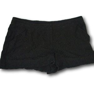 Womens Black Lace Nicole by Nicole Miller Shorts